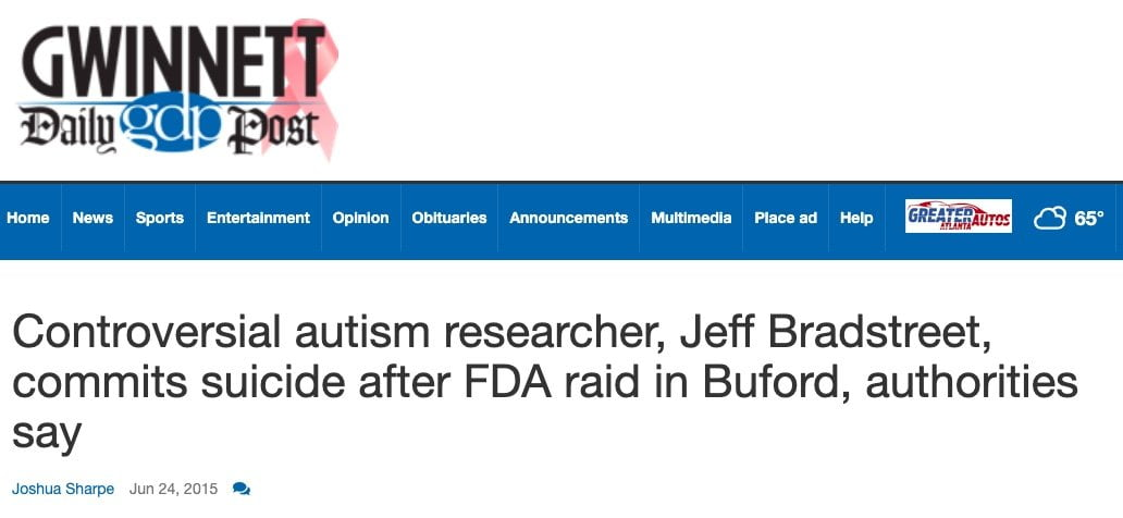 Lekarz szczepienia autyzm zamordowany