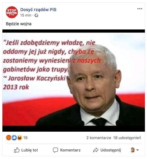 Jeśli zdobędziemy władzę jarosław kaczyński