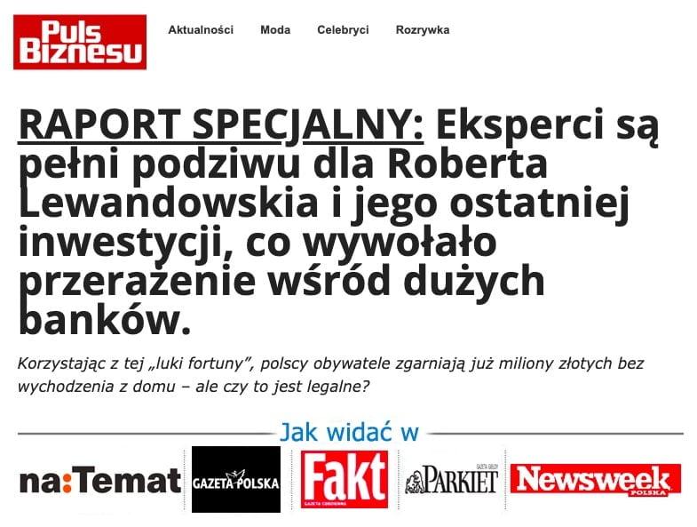 Robert Lewandowski Puls Biznesu