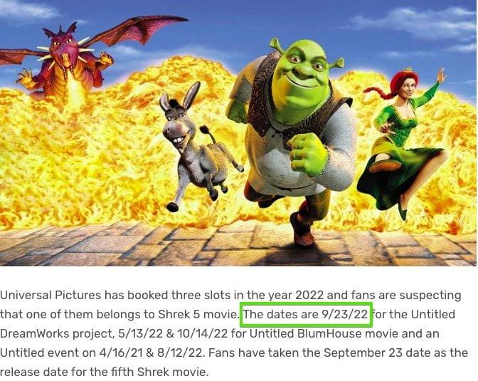 shrek 5 23 wrzesień 2022