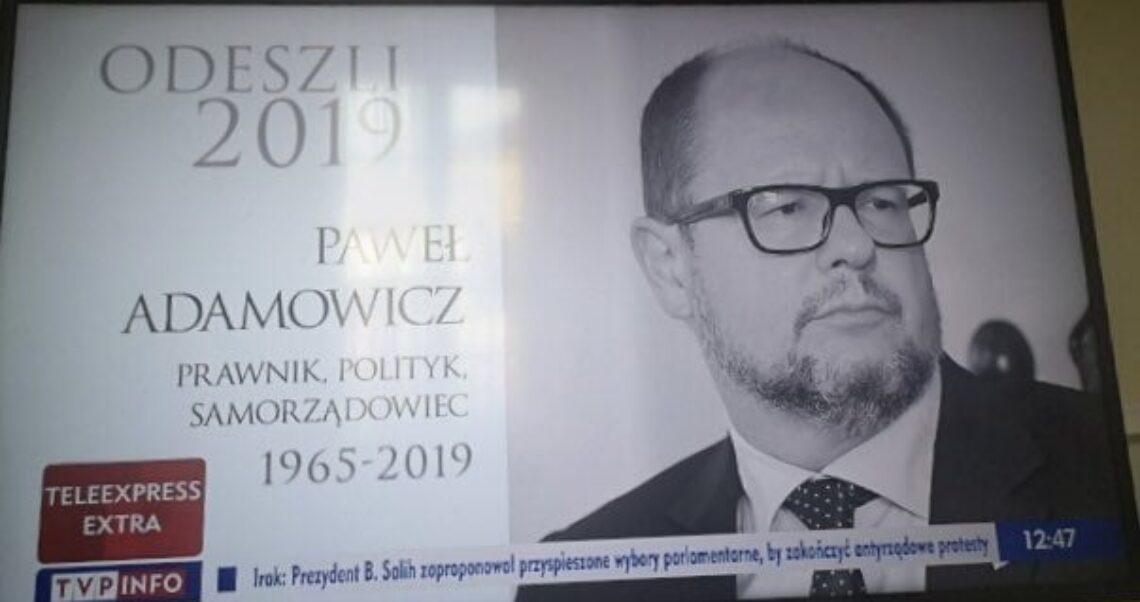 Czy TVP Info pominęło prezydenta Adamowicza?