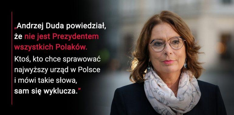 Andrzej Duda nie jest prezydentem wszystkich polaków?