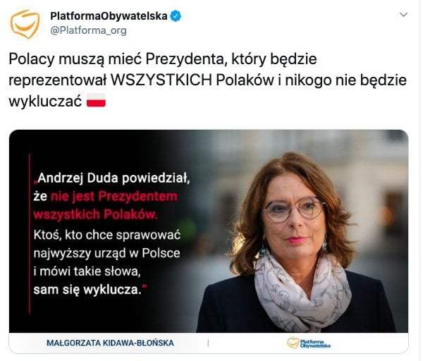 Andrzej Duda powiedział, że nie jest prezydentem wszystkich polaków