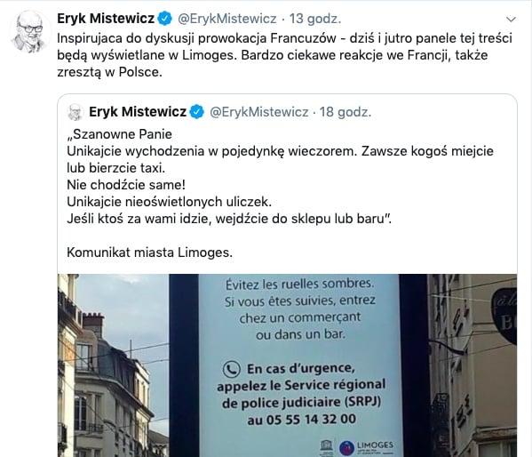 Eryk Mistewicz Twitter