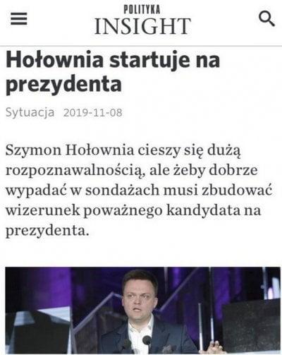 Szymon Hołownia na prezydenta