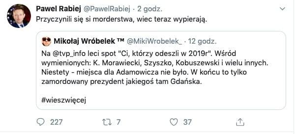 TVP Info pominęło prezydenta Adamowicza