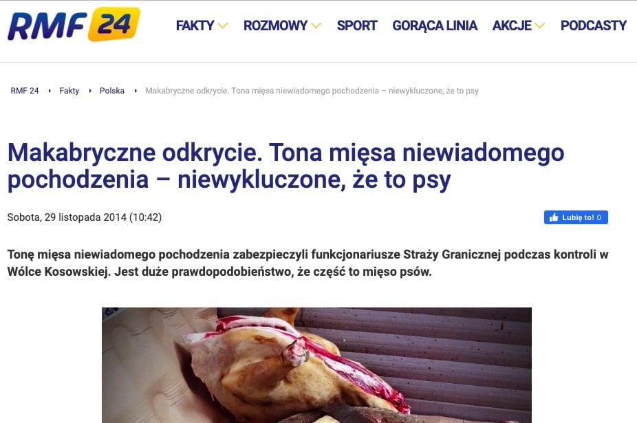 warszawskie bary mięso z psów