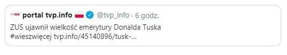 Donald Tusk emerytura