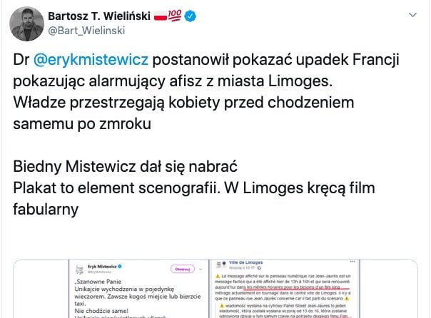 Eryk Mistewicz fake news