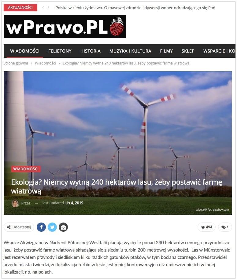 wPrawo.pl - 240 hektarów lasu wycięte