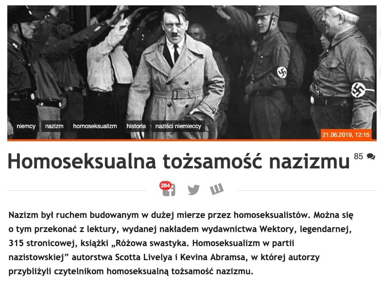 Fronda.pl - różowy nazizm