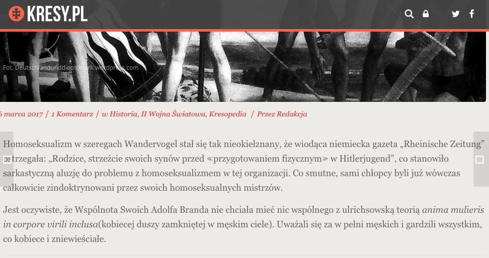Kresy.pl - Różowa Swastyka