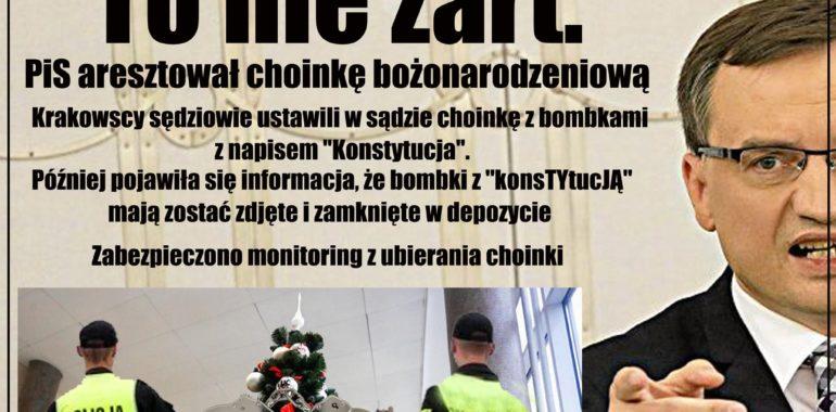 PiS aresztował choinkę bożonarodzeniową?