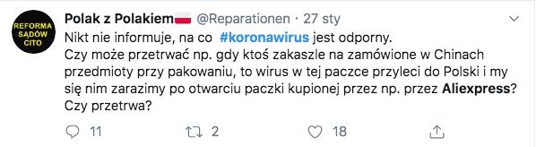 Koronawirus - Twitter