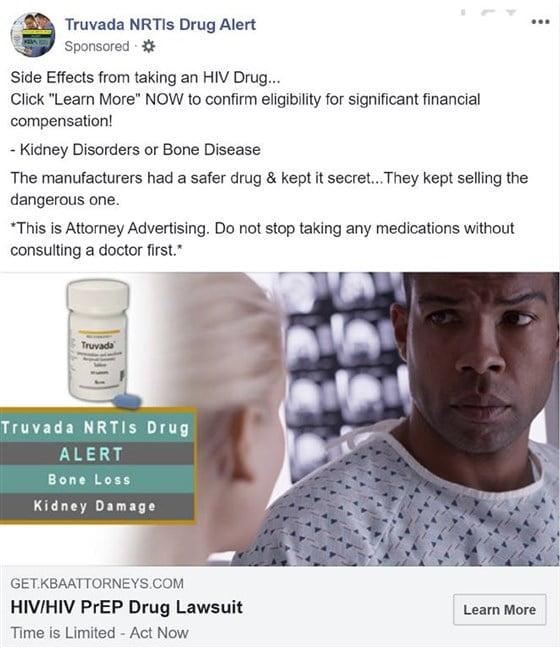 Truvada Facebook AD