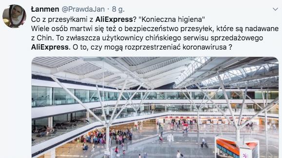 Koronawirus AliExpress