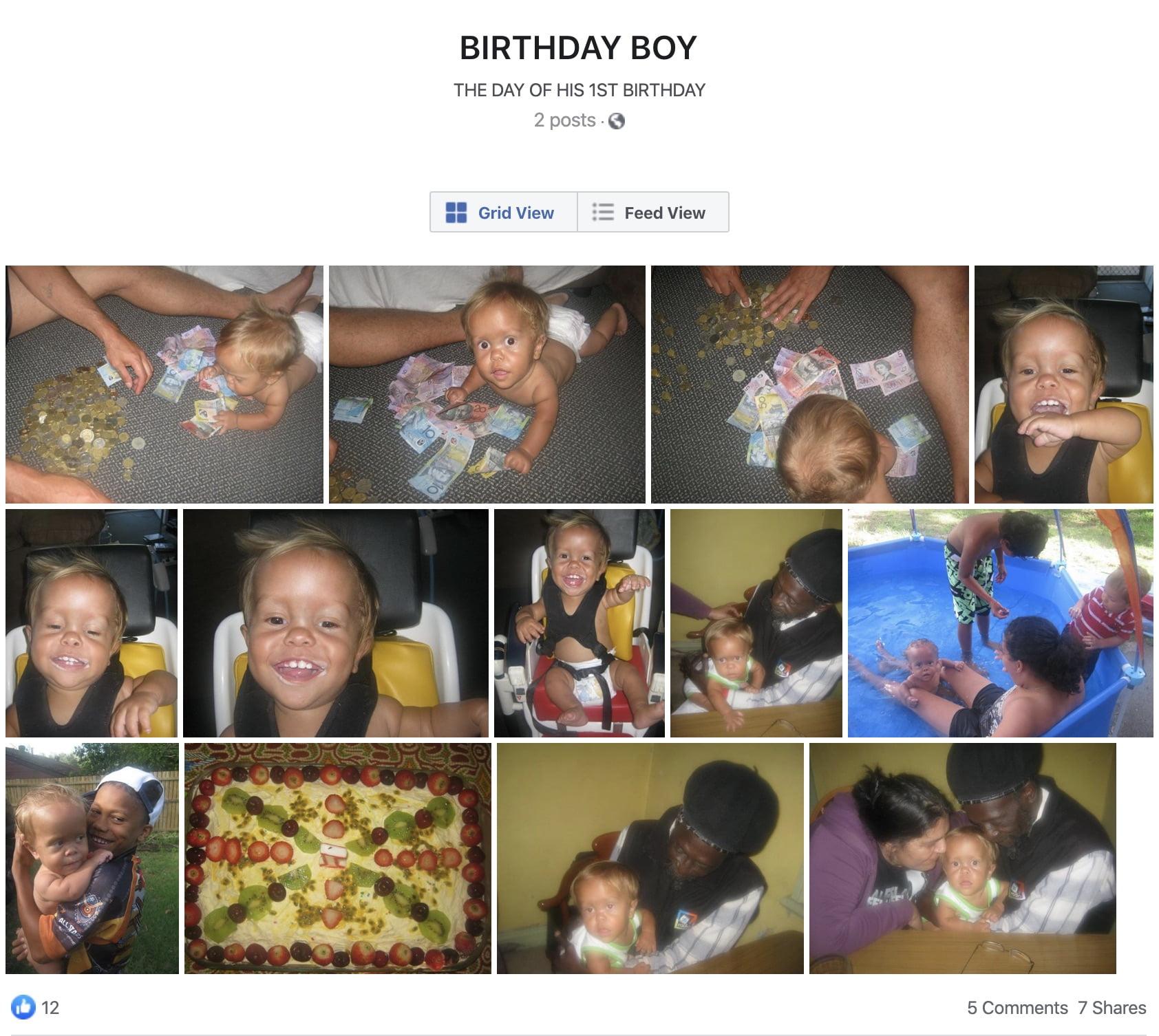 Quaden Bayeles pierwsze urodziny