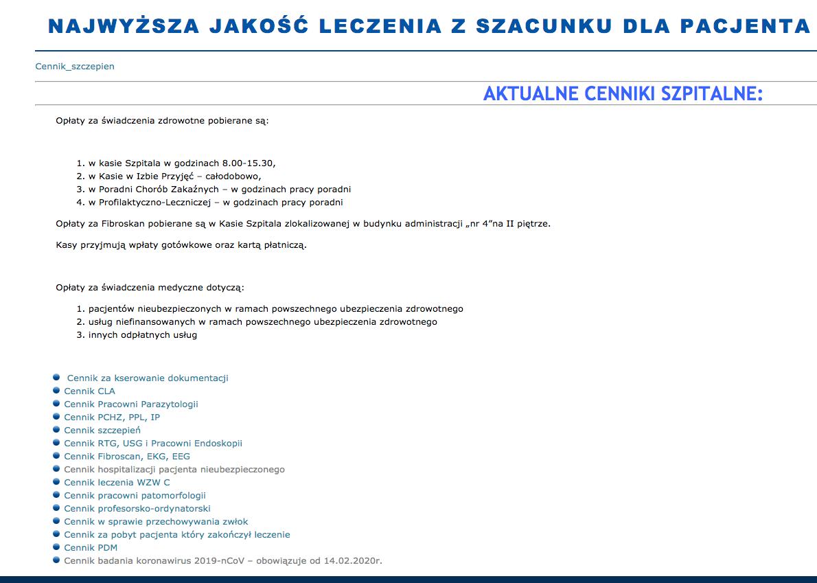 Cannik - Wojewódzki Szpital Zakaźny