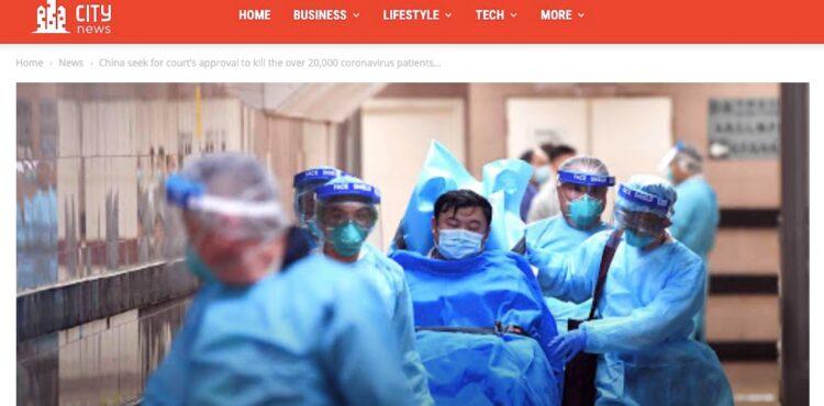 Nie, Chiny nie zamierzają uśmiercić 20,000 pacjentów