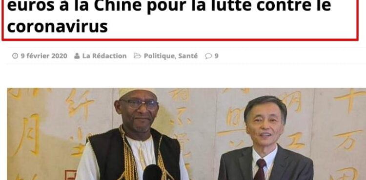 Nie, Komory nie przekazały Chinom 100 euro na walkę z koronawirusem