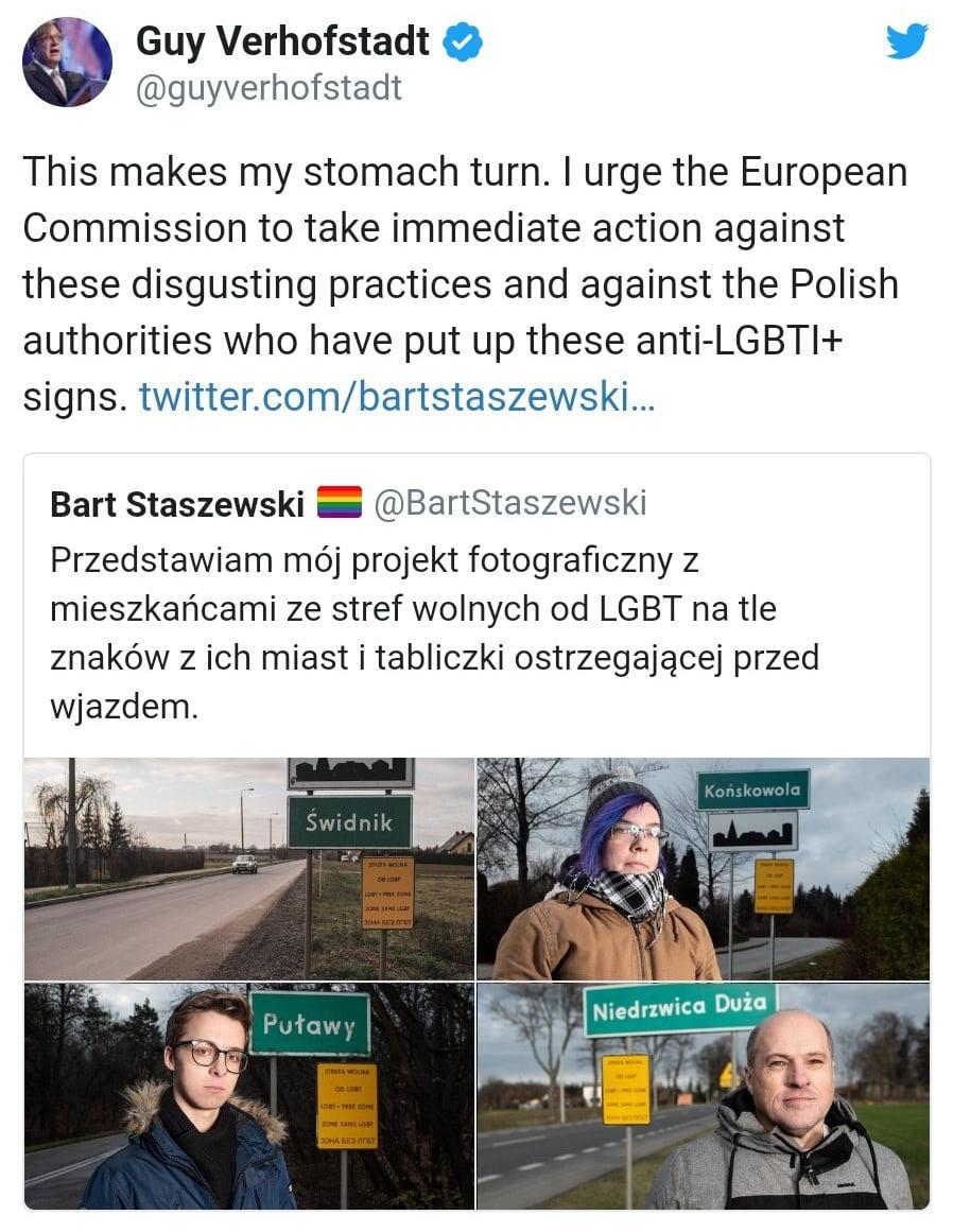Guy Verhofstadt LGBT Free Zones