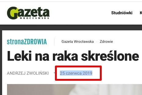 Gazeta Wrocławska - Data