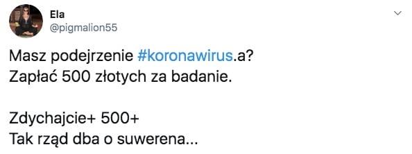 badanie na koronawirusa 500 złotych