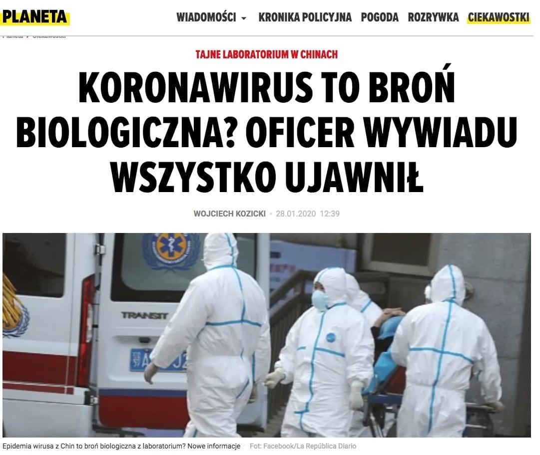 Koronawirus - Planeta.pl