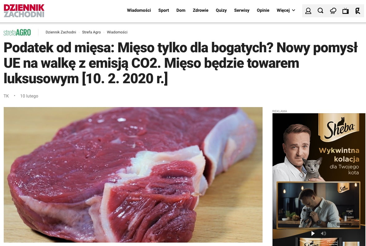 podatek od mięsa