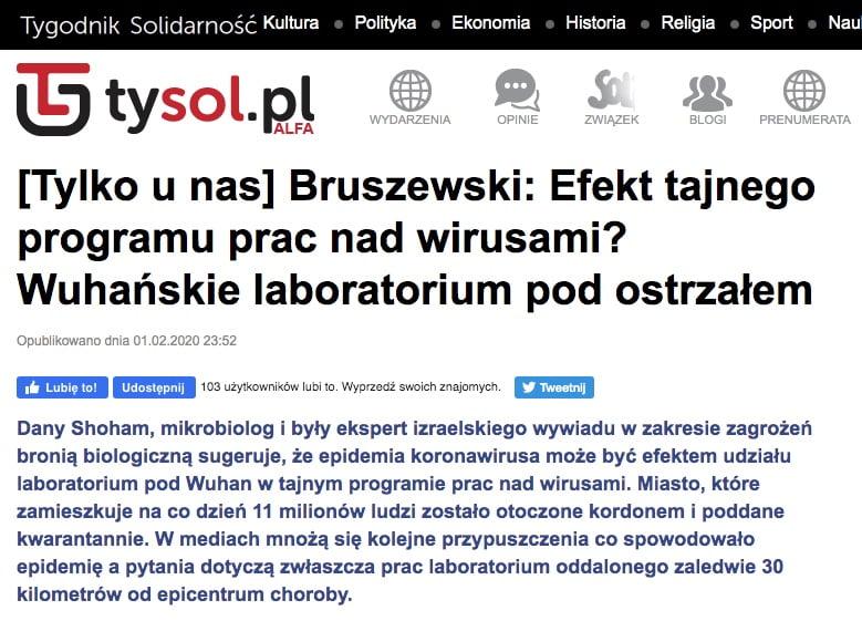 Koronawirus - Tygodnik Solidarność
