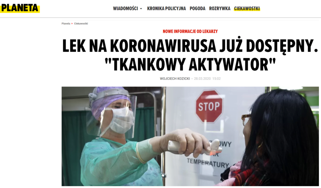 lek na koronawirusa już dostępny