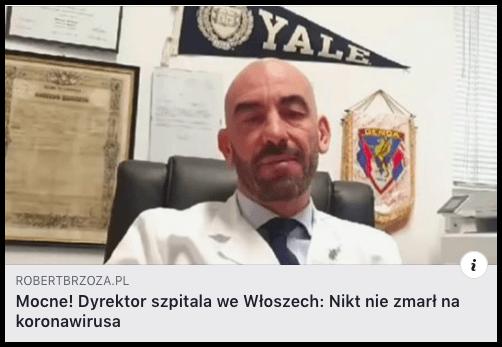 dyrektor szpitala w Genui