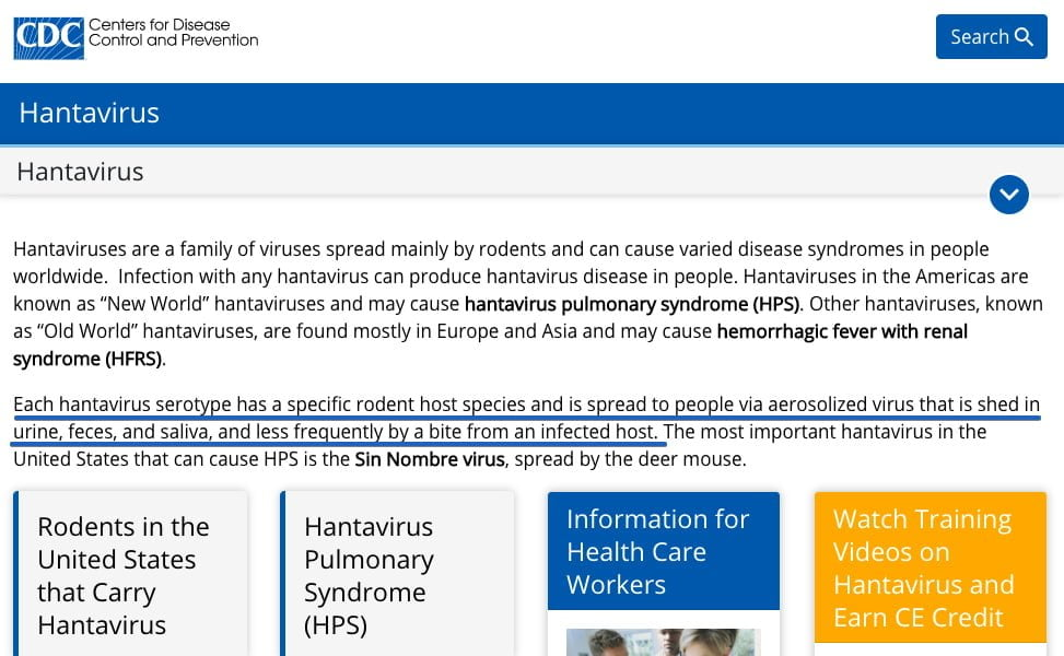 CDC - Hantawirus