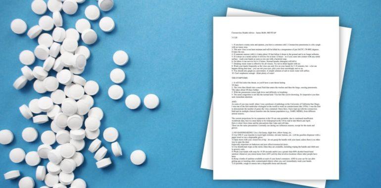 Cynk pomaga w walce z koronawirusem? James Robb i jego list