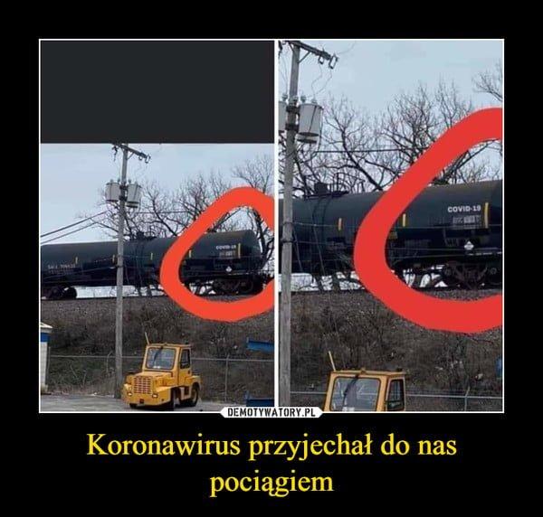 pociąg covid