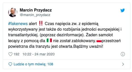 Marcin Przydacz - Twitter