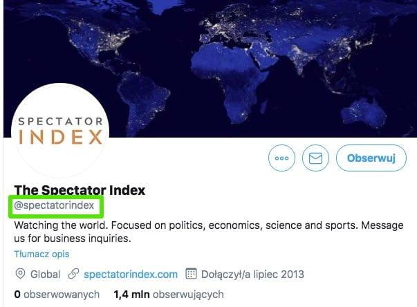 The Specator Index - Prawdziwe Konto