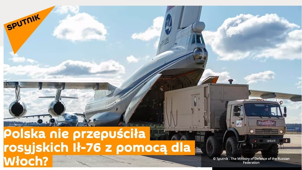 Polska blokuje rosyjskie samoloty