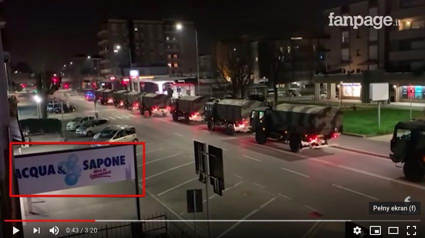 Stopklatka - Transport trumien przez pojazdy wojskowe