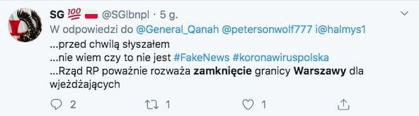 zamknięcie Warszawy koronawirus