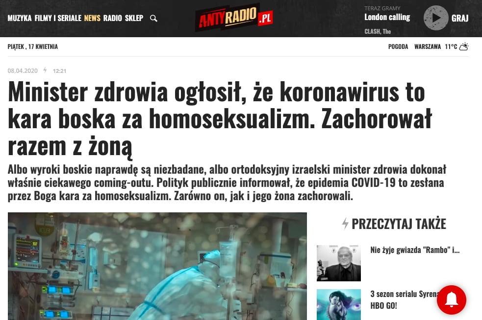 Yaakov Litzman homoseksualizm