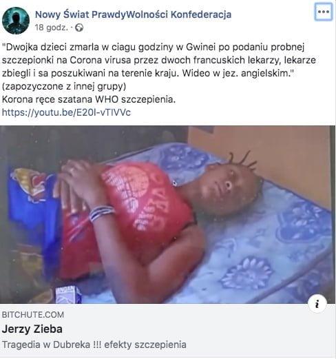 dwójka dzieci zmarła w Gwinei
