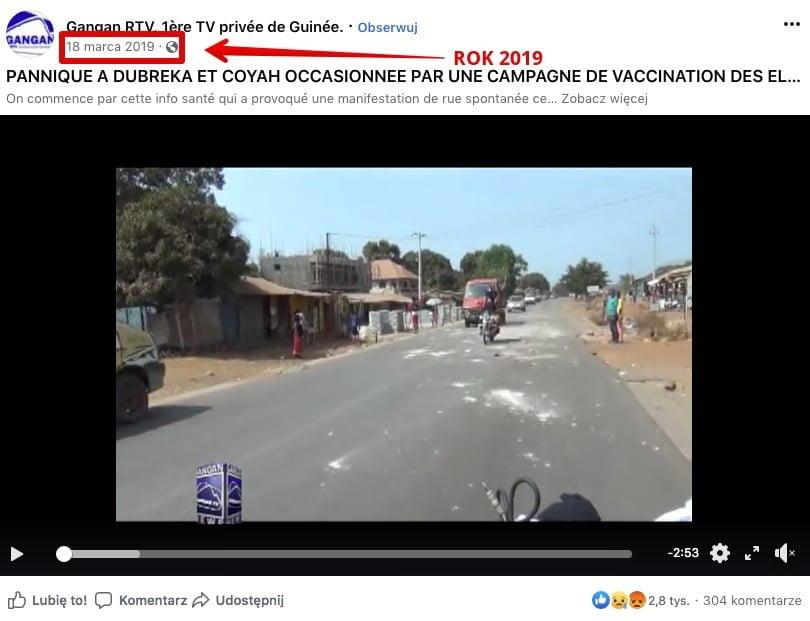 Gangan RTV - dwójka dzieci zmarła w Gwinei
