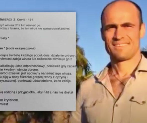 Izrael bez zgonów i woda z cytryną na koronawirusa? Analiza łańcuszków