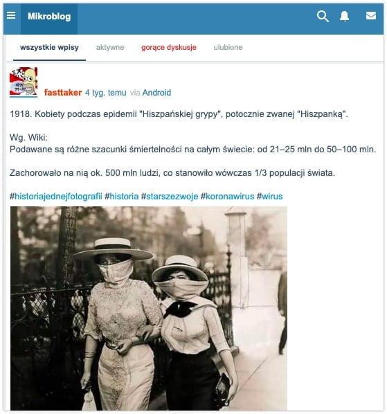 """Kobiety podczas epidemii """"Hiszpańskiej grypy"""""""