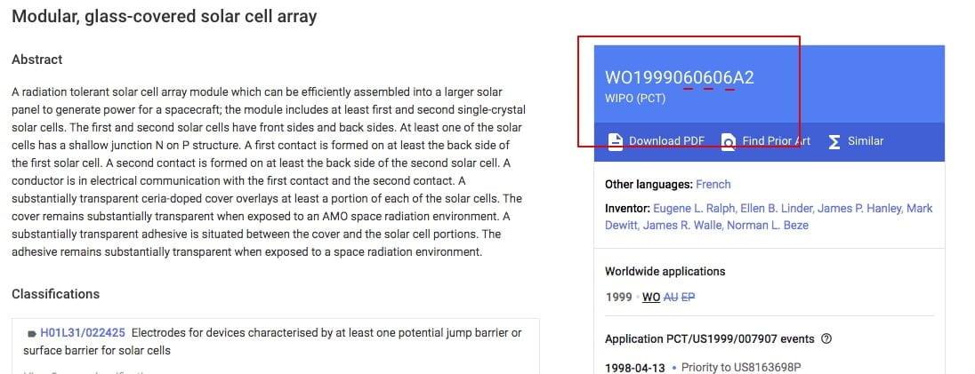 patent WO1999060606A2