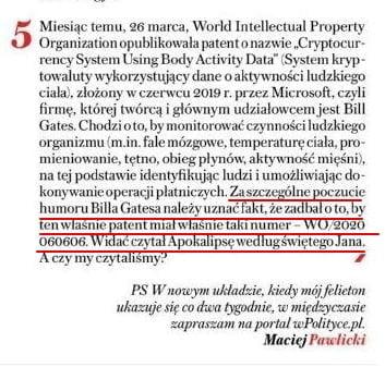 Pawlicki Sieci, patent 666