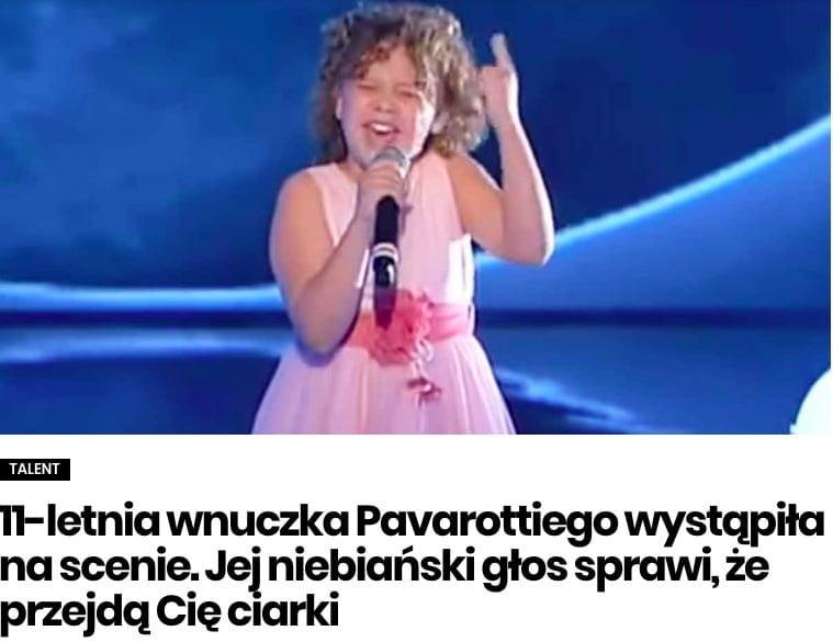 wnuczka Luciano Pavarottiego