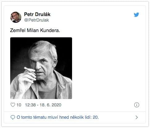 Milan Kundera żyje