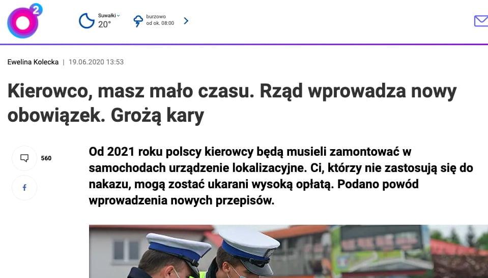 obowiązkowy lokalizator / o2.pl /